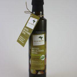 Villa Maria – Natives Bio-Olivenöl Extra mit Rosmarin: 0,25 Liter-Flasche