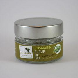 Villa Maria – Fleur de sel (Salzblume) mit Rosmarin: 60 Gramm-Glas