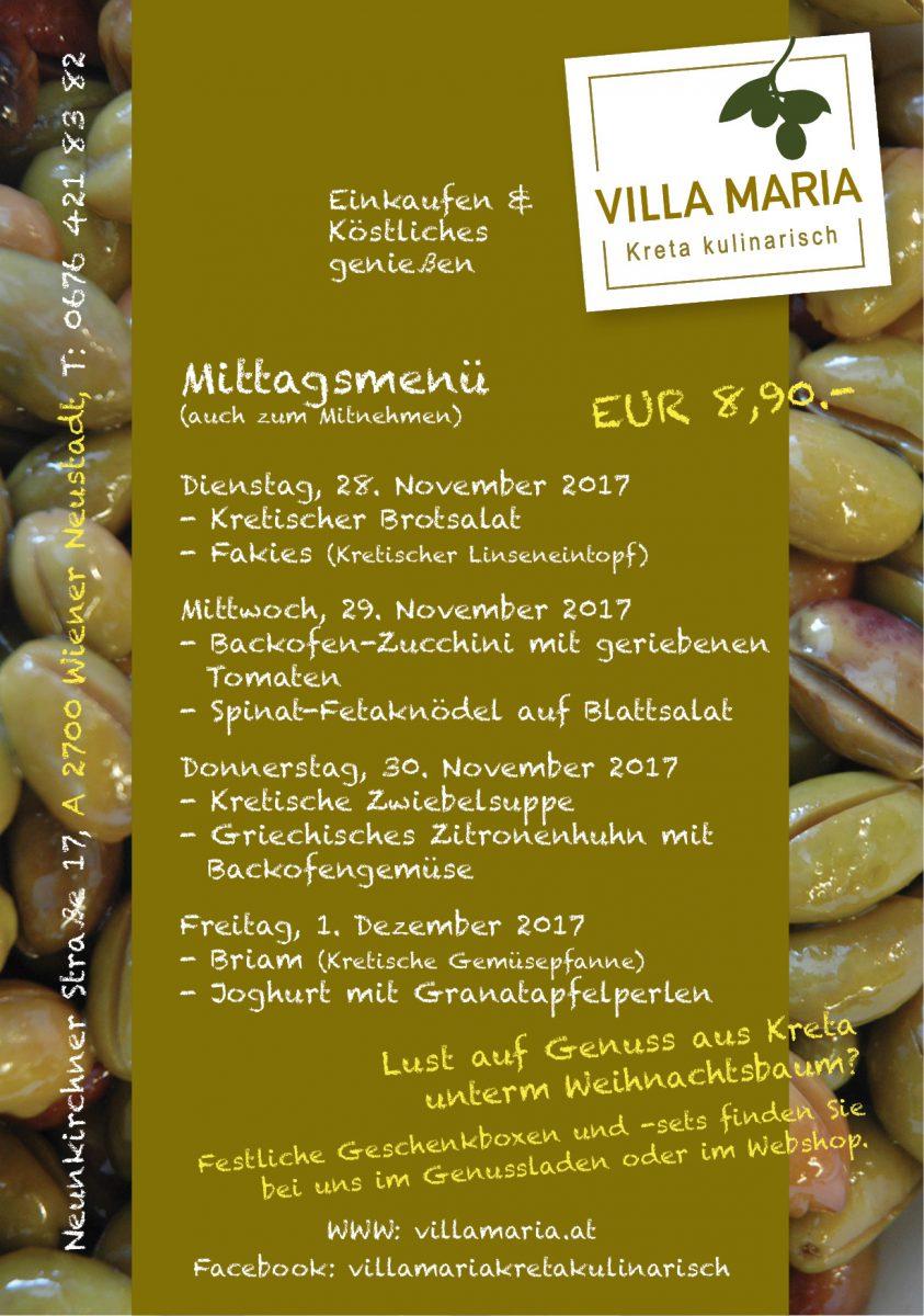 Diese Woche mittags bei Villa Maria in Wiener Neustadt…