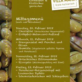 Griechisches Zitronenhuhn, Rizogalo & Co.: Die Villa Maria – Mittagsmenüs der kommenden Olympia-Woche…
