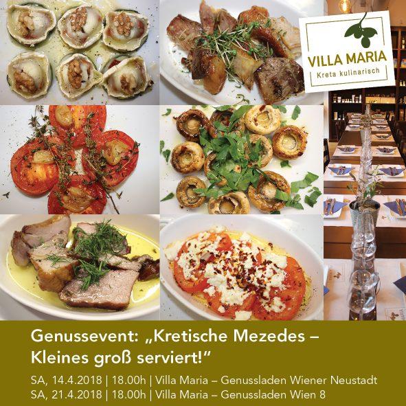 """Genussevent: """"Kretische Mezedes – Kleines groß serviert!"""""""