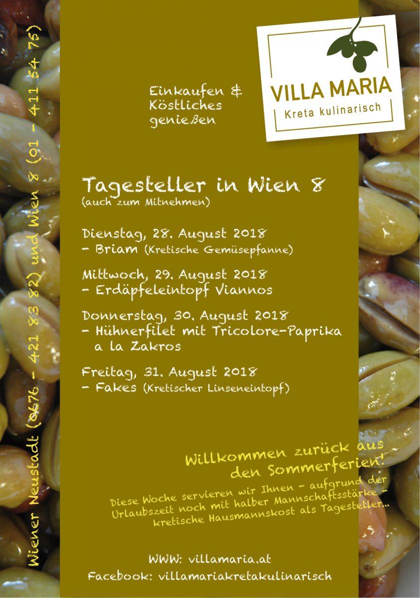 Diese Woche bei Villa Maria in Wien 8 zur Mittagszeit…