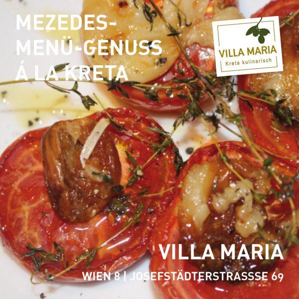 Mezedes-Menü bei Villa Maria in Wien 8