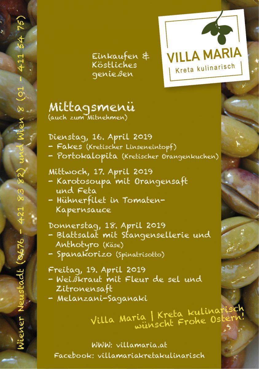 In der Osterwoche am Villa Maria – Mittagstisch in Wien 8…