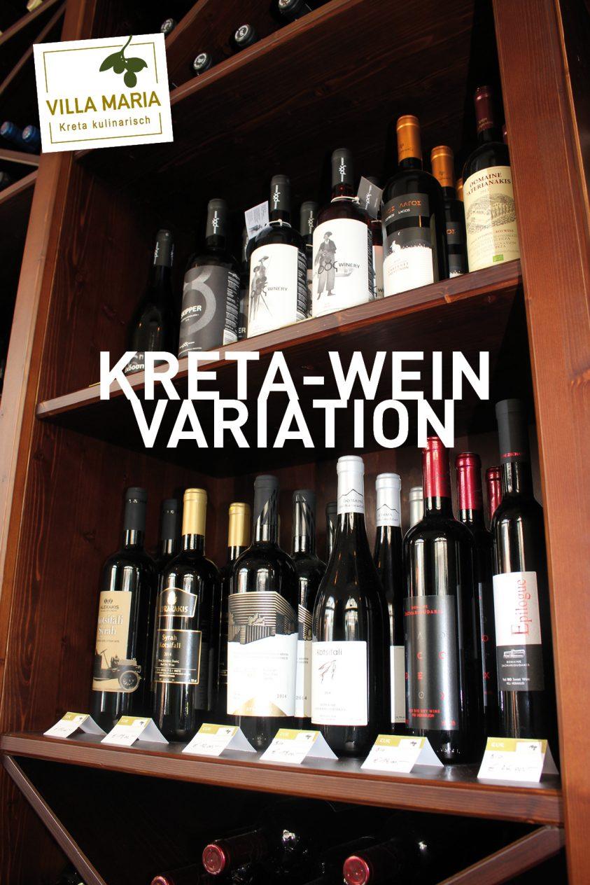 Neu bei Villa Maria: Die Kreta-Wein-Variation.
