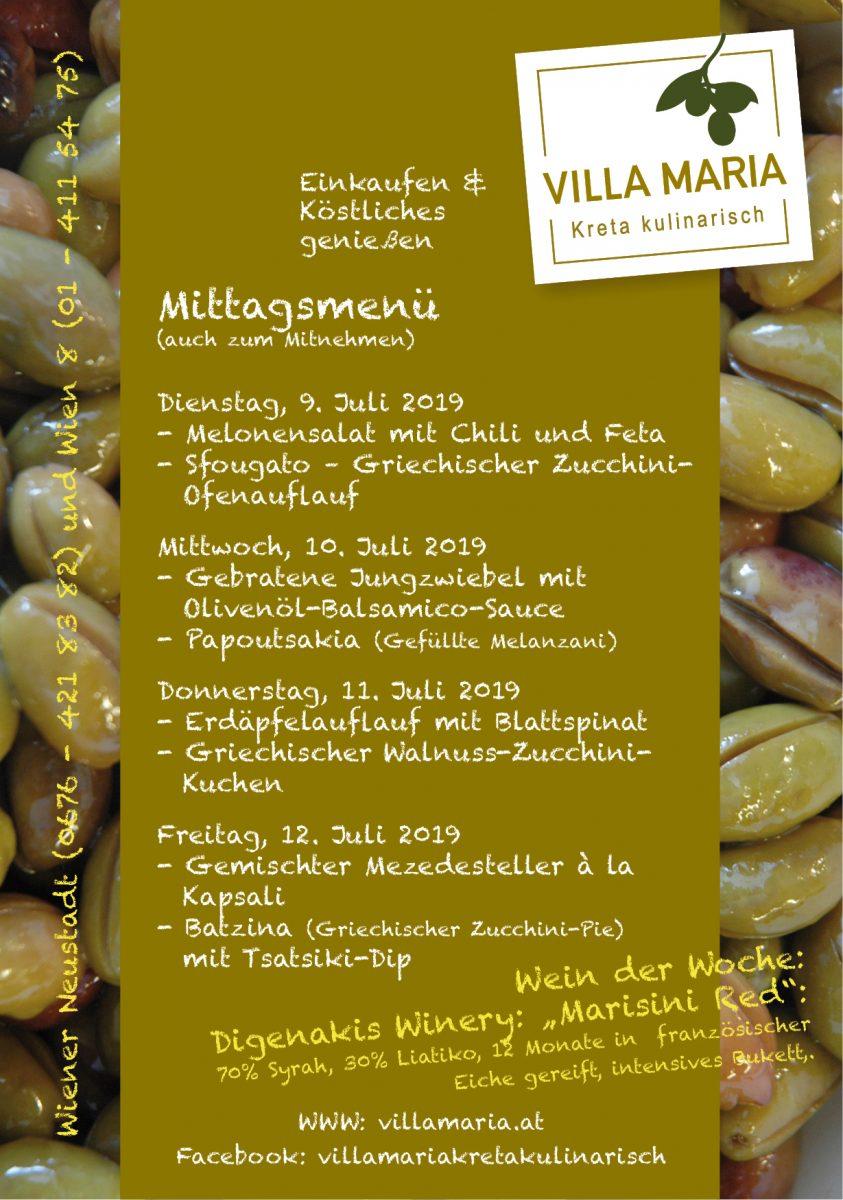 Sommerzeit – Zucchini-Zeit! Diese Woche bei Villa Maria am Mittagstisch…