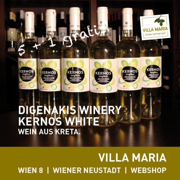 Digenakis Winery – Kernos White: Aktion 5 + 1 gratis!