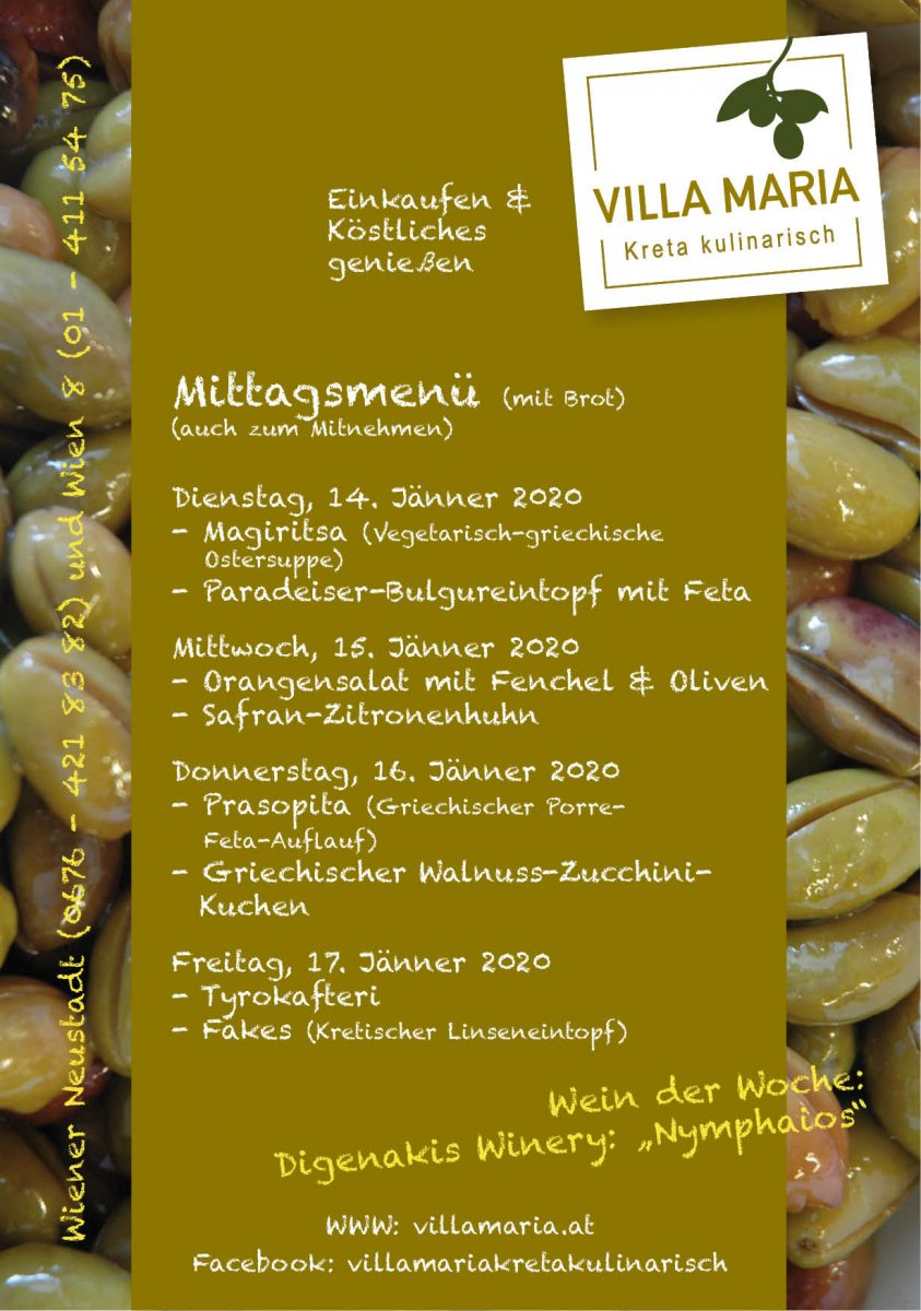 Margiritsa, Prasopita, Fakes & Co. – Kretischer Mittagsmenügenuss bei Villa Maria.
