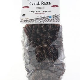 CretaCarob – Carob-Pasta (Fusili): 250 Gramm-Packung