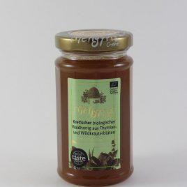 Meligyris – Kretischer Bio-Waldhonig aus Thymian- und Wildkräuterblüten: 300 Gramm-Glas