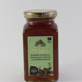 Meligyris – Kretischer Bio-Waldhonig aus Thymian- und Wildkräuterblüten: 450 Gramm-Glas