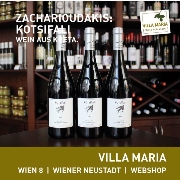 Villa Maria – Wein der Woche: Domaine Zacharioudakis: Kotsifali