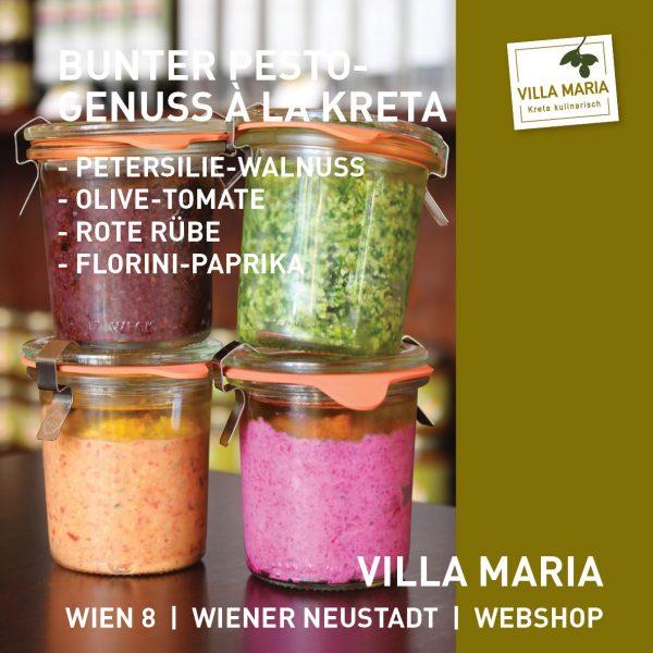 Bunter Pesto-Genuss à la Kreta bei Villa Maria…