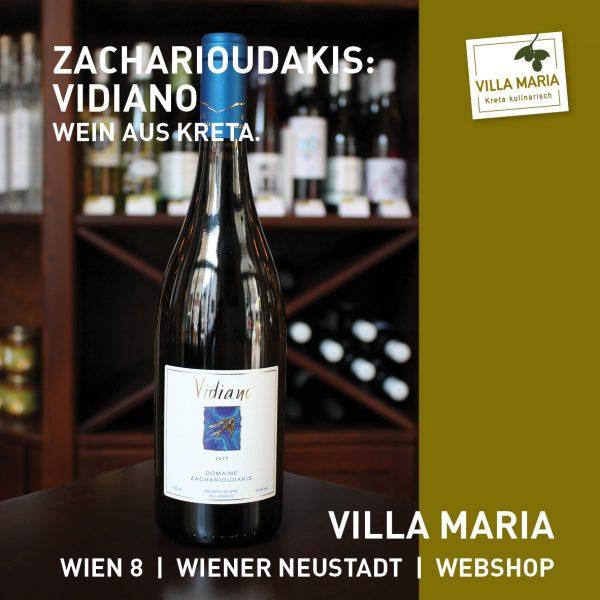 """Villa Maria – Wein der Woche: Domaine Zacharioudakis: """"Bio-Vidiano"""""""