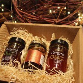 """Geschenkbox """"Meligyris – Honigspezialitäten"""""""