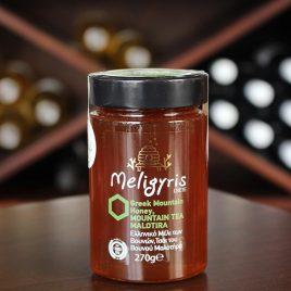 Meligyris – Griechischer Berghonig von Malotira-Bergtee-Blüten: 270 Gramm-Glas