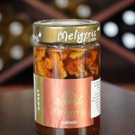 Meligyris – Griechischer Pinienhonig mit Walnüssen: 270 Gramm-Glas