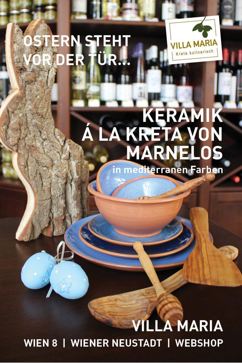 Ostern steht vor der Tür…  Keramik á la Kreta von Marnelos: in mediterranen Farben.