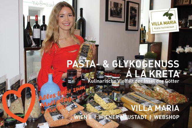 9. Mai 2021: Alles Liebe zum Muttertag…  Pasta- & Glykogenuss á la Kreta – Kulinarische Vielfalt der Insel der Götter