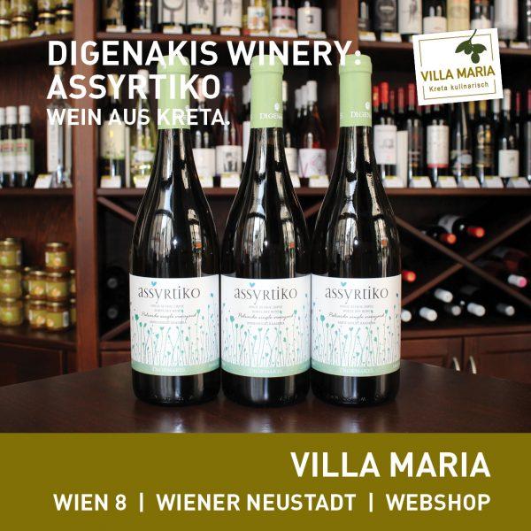 Villa Maria – Wein der Woche: Digenakis Winery: Assyrtiko