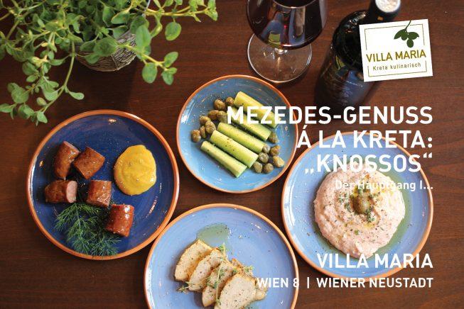 "Mezedes-Genuss á la Kreta bei Villa Maria! Heute: Variation ""Knossós"" – το κύριο μάθημα, der Hauptgang I"""