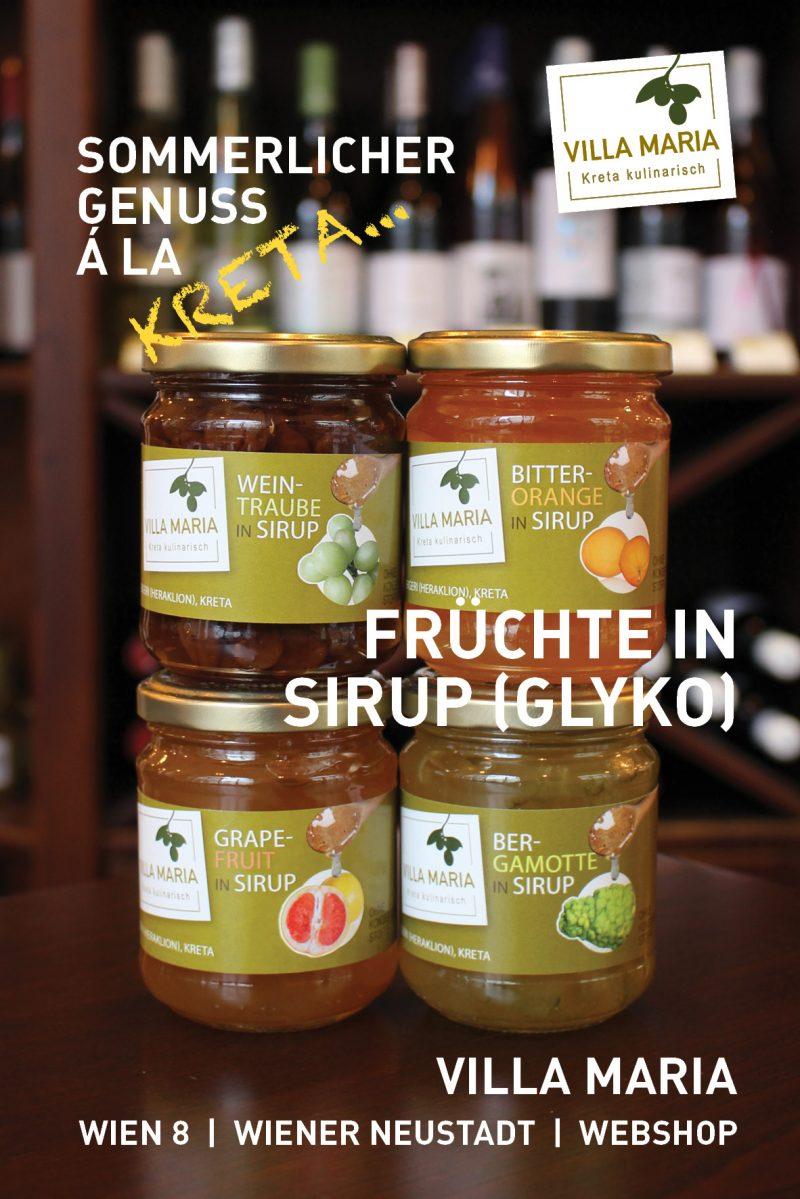 Sommerlicher Genuss á la Kreta: Villa Maria – Früchte in Sirup (Glyko)
