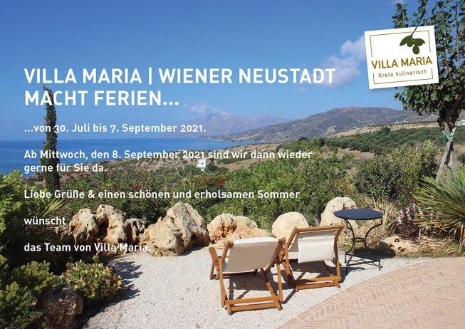 Villa Maria | Wiener Neustadt macht Ferien…