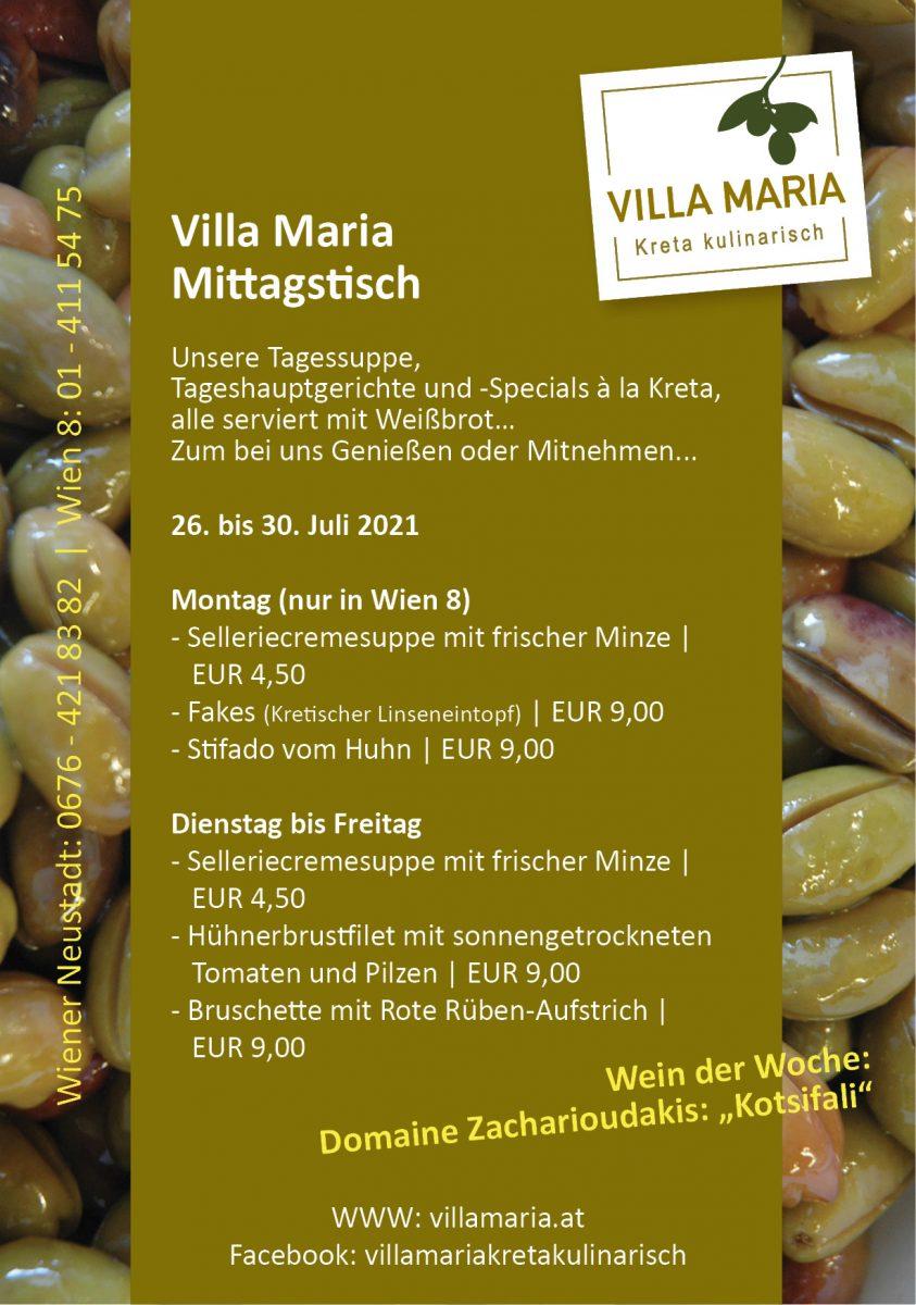 Mittags diese Woche bei Villa Maria | Kreta kulinarisch…