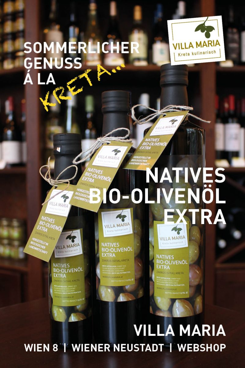 Sommerlicher Genuss á la Kreta: Villa Maria – Natives Bio-Olivenöl Extra