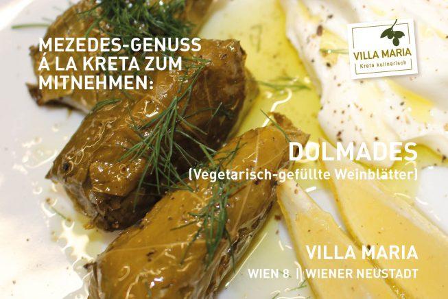 Mezedes-Genuss á la Kreta zum Mitnehmen: Dolmades (Vegetarisch-gefüllte Weinblätter)