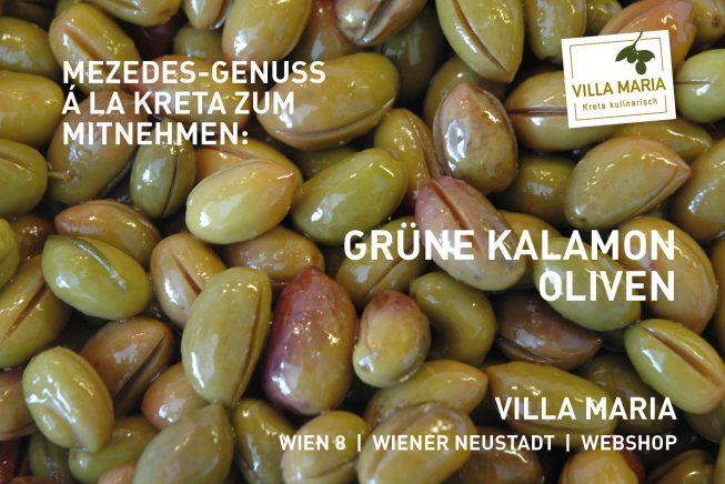 Mezedes-Genuss á la Kreta zum Mitnehmen: Grüne Kalamon-Oliven